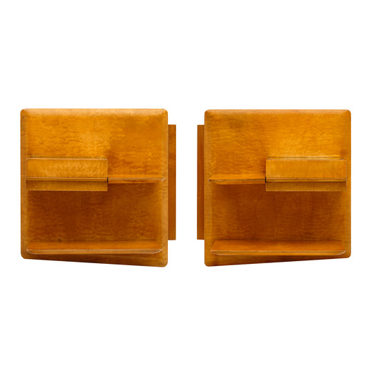 Mid-Century French Side Table Shelves