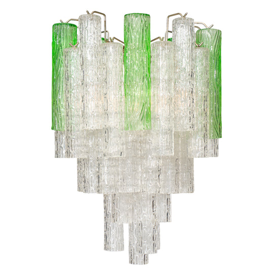 Murano Glass Two Toned Vintage Chandelier