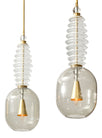 Pair of Murano Glass Pendant Fixtures