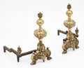 French Bronze Antique Andirons