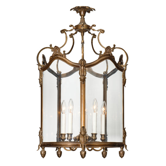 Large Bronze and Glass Vintage Lantern