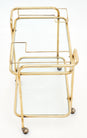 Mid-Century Brass and Glass Bar Cart