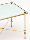 Baguès Style Brass and Mirror Vintage Side Table