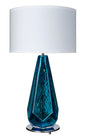 "Blue ""Specchiate"" Murano Glass Lamps"