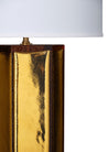 Gold Leaf and Amber Murano Glass Lamps