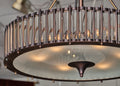 Murano Glass Tube and Bronze Chandelier