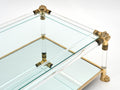 Vintage Lucite and Brass Coffee Table by Raphael