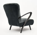 Paolo Buffa Armchairs with Footstools