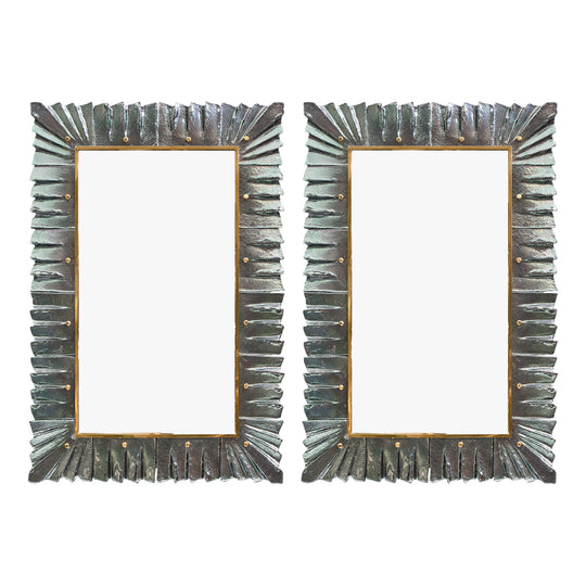 Murano Glass Aqua Mirrors