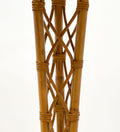 French Vintage Wicker Floor Lamp