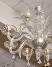 Clear Vintage Murano Glass Chandelier