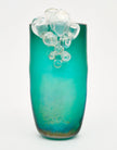 Pair of Murano Glass Aqua Bubble Vases