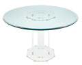 Lucite and Glass Vintage French Dining Table