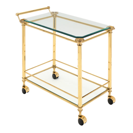 French Brass Art Deco Period Bar Cart
