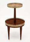 Louis XVI Style Two-Tiered Side Table