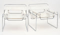 Pair of Armchairs in the manner of Marcel Breuer's Wassily Design