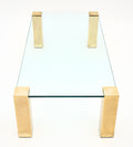 Modernist French Brass and Glass Coffee Table