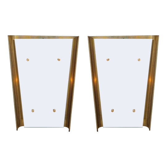 Pair of Mid-Century Italian Mirrors with Backlighting