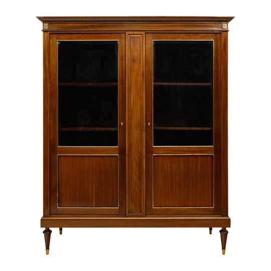 Louis XVI Style French Mahogany Bookcase