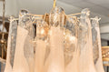 "Pair of Peach Murano Glass ""Selle"" Chandeliers"