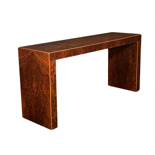 Burled Walnut Console Table