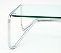 Pair of Chrome and Glass Coffee Tables