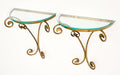 Art Deco French Brass and Glass Shelves