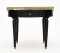 Saint Anne Marble Topped Bouillotte Table