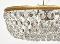 Vintage Crystal Flush Mount Chandelier