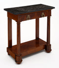 Empire Period Antique Console Table with Marble Top