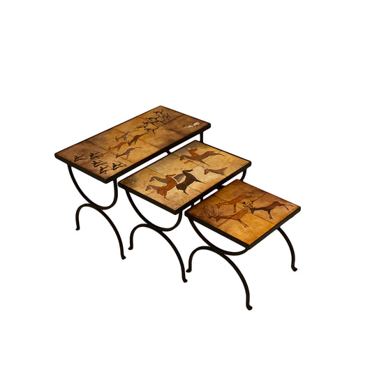 Roger Capron Style Nesting Tables