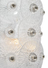 Murano Glass Clear Disc Sconces by Carlo Nason