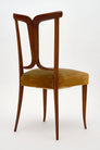 Modernist Walnut Dining Chairs in the style of Paolo Buffa