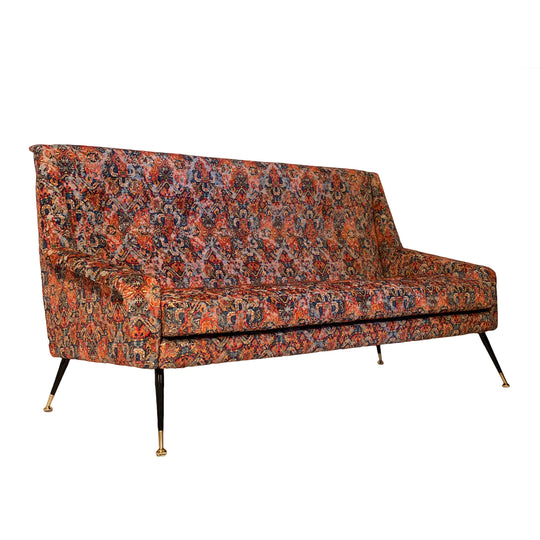 Vintage Italian Sofa with Rubelli Upholstery
