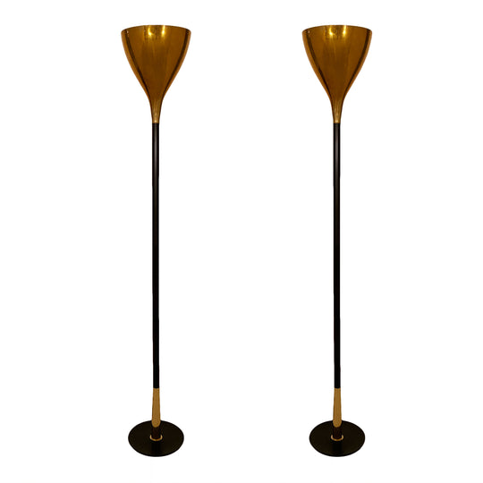 Brass Floor Lamps from Italy