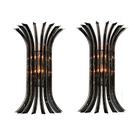 Murano Glass Venini Curved Sconces