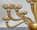 Murano Glass Tobacco Colored Chandelier by Barovier