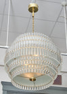 Murano Glass Tiered Rod Chandelier
