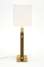 "Murano Glass Amber ""Tormalina"" Slab Lamps"