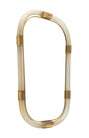 "Murano Glass and Brass ""Torsado"" Mirror by Fuga"
