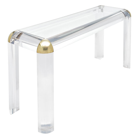 French Lucite Console Table by Maison Raphael
