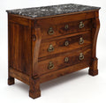 French Restauration Period Walnut Chest of Drawers