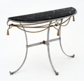 Vintage Console Table with Black Marble Top