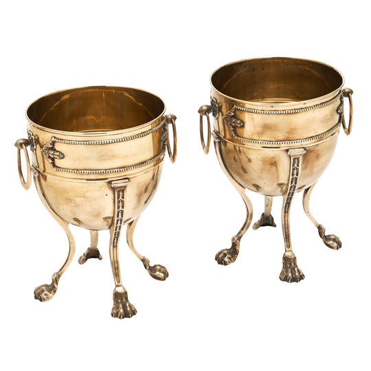 French Brass Empire Style Planters