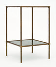 French Brass Vintage Side Table