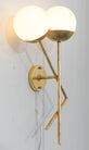 Murano Glass and Brass Stilnovo Sconces