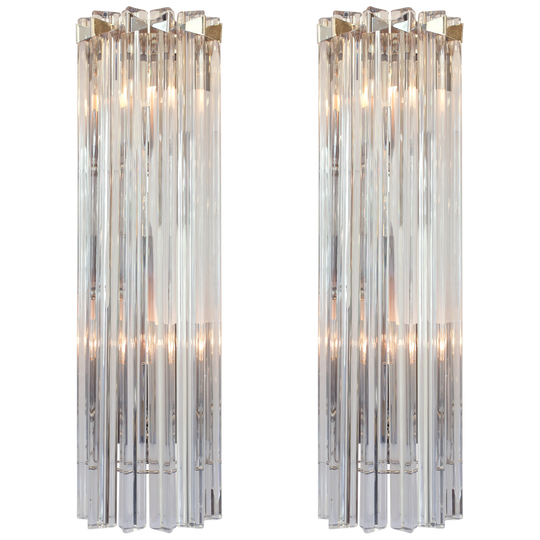 Shimmering Murano Glass Sconces by Venini