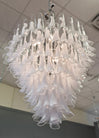 Murano Crystal & Opaline Glass Chandelier