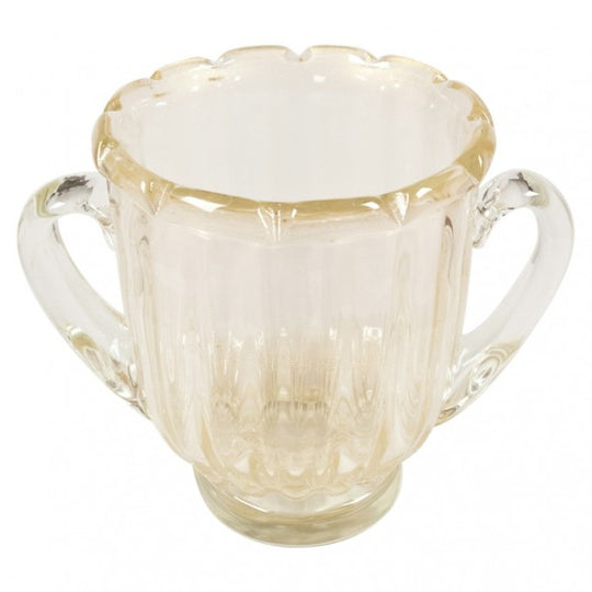 Murano Avventurina Glass Urn with Handles