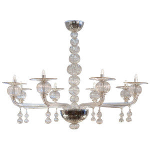 Murano Cristallo Pura Glass Chandelier